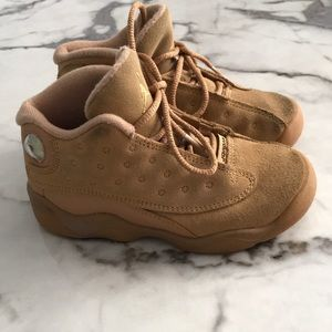 Toddler Air Jordan 13 Wheat color sneakers
